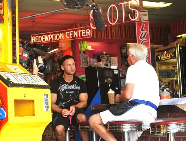"Michael ""The Situation""Sorrentino filming on location for ""Jersey Shore"" at Seaside Heights on August 3, 2010 in Seaside Heights, New Jersey."