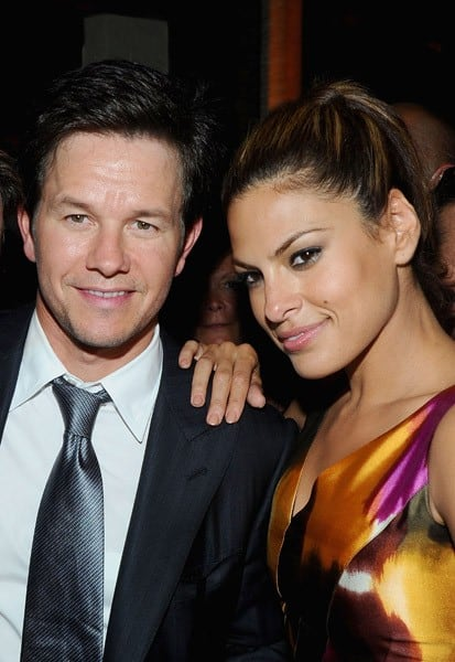 "Actors Mark Wahlberg and Eva Mendes attend the premiere of ""The Other Guys"" at the The Park on August 2, 2010 in New York City."