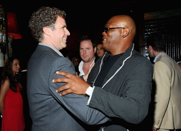 "Actors Will Ferrell and Samuel L. Jackson attend the premiere of ""The Other Guys"" at the The Park on August 2, 2010 in New York City."