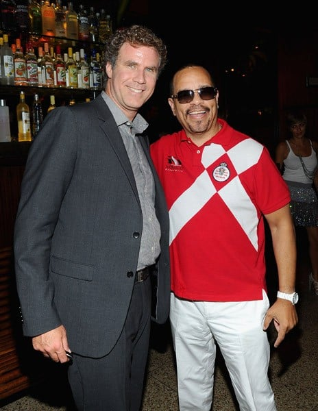 "Actor Will Ferrell and actor/rapper Ice T attend the premiere of ""The Other Guys"" at the The Park on August 2, 2010 in New York City."