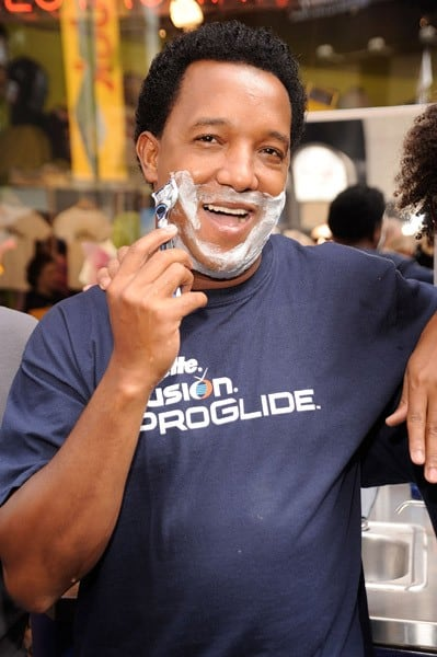 Major League Baseball pitcher Pedro Martinez promotes the Gillette Fusion ProGlide at Planet Hollywood Times Square on August 5, 2010 in New York City.