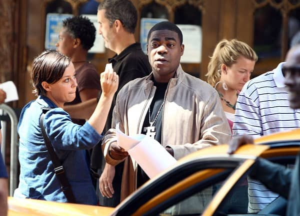 Actor Tracy Morgan on location for '30 Rock' on the streets of Manhattan on August 27, 2010 in New York City.