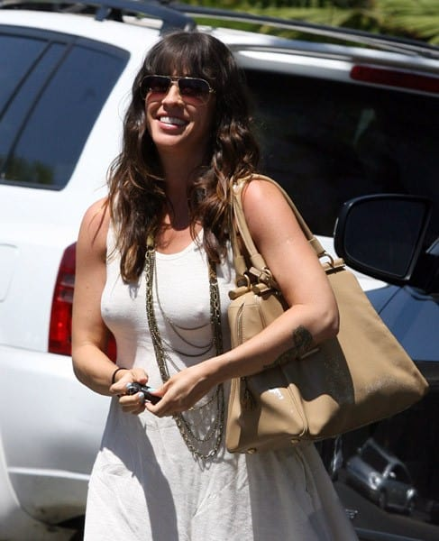 Alanis Morissette is seen in Brentwood on August 19, 2010 in Los Angeles, California.