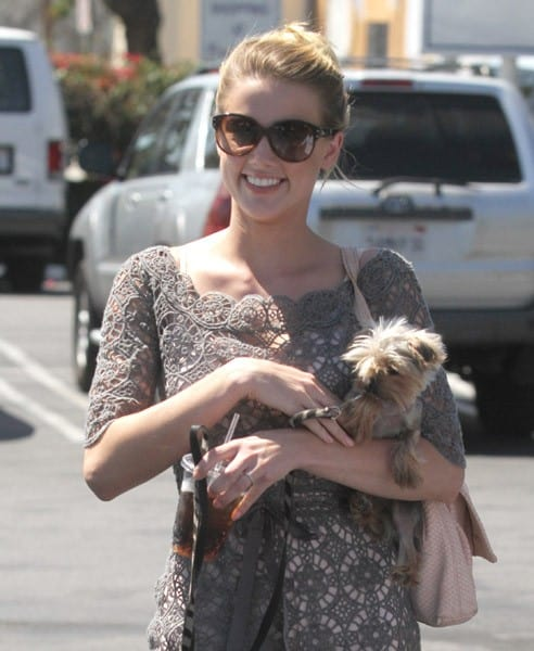 Amber Heard is seen in West Hollywood on August 23, 2010 in Los Angeles, California.
