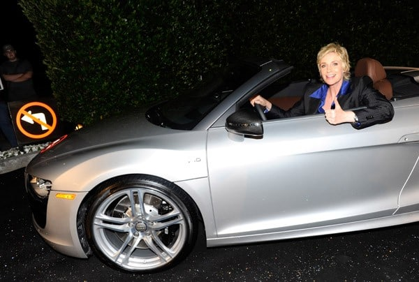 Jane Lynch attends Audi Celebrates the 2010 Emmy Awards at Cecconi's Restaurant on August 22, 2010 in Los Angeles, California.