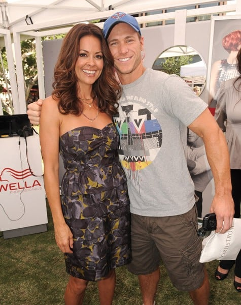 Brooke Burke and Jake Pavelka attend the Wella Professionals' Color Discovery Tour at The Grove on August 20, 2010 in Los Angeles, California.