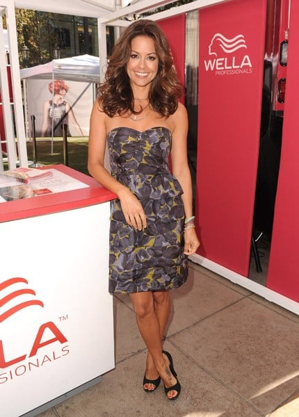 Brooke Burke attends the Wella Professionals' Color Discovery Tour at The Grove on August 20, 2010 in Los Angeles, California.