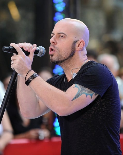 "Daughtry performs on NBC's ""Today"" at Rockefeller Center on August 20, 2010 in New York City."
