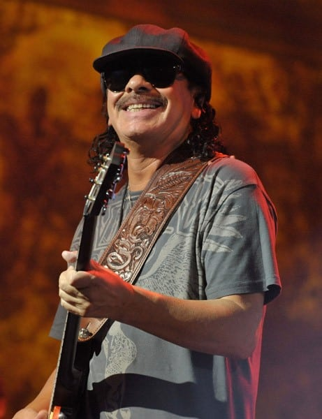 Musician Carlos Santana performs at The Joint on August 25, 2010 in Las Vegas, Nevada.