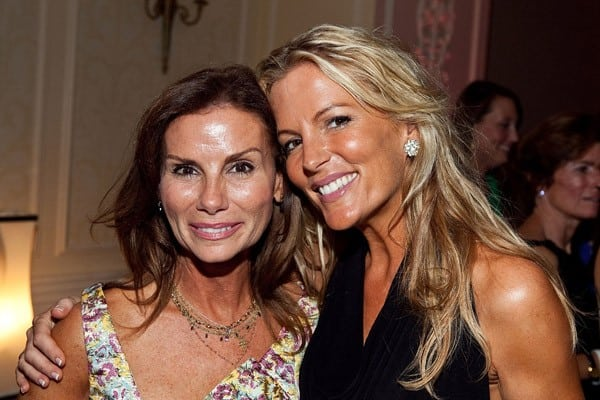 Cast members Lynda Erkiletian and Catherine Ommanney at the premiere of 'The Real Housewives Of D.C.' at The Madison Hotel on August 5, 2010 in Washington, DC.
