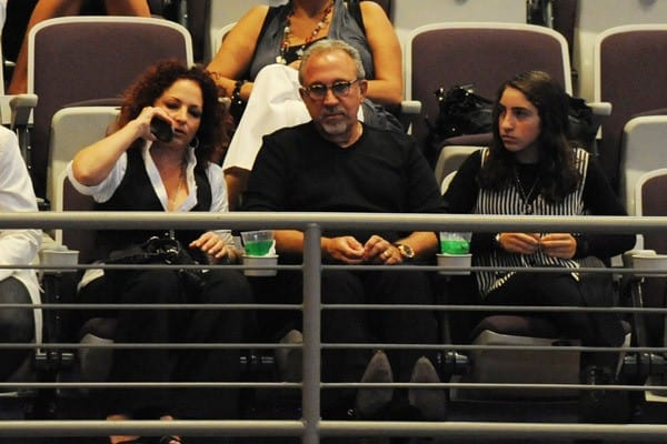 Gloria and Emilio Estefan along with their daughter Emily watching Donna Summer perform at Hard Rock Live! in the Seminole Hard Rock Hotel & Casino on August 18, 2010 in Hollywood, Florida.