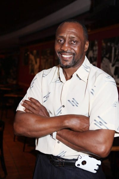 Champion boxer Thomas Hearns attends a press conference to announce a new partnership between Evander Holyfield and Forgotten Harvest at Joe Louis Arena on August 12, 2010 in Detroit, Michigan.