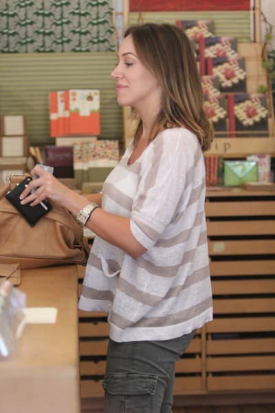 Haylie Duff Shops At Soolip Paperie In West Hollywood, California on August 8, 2010