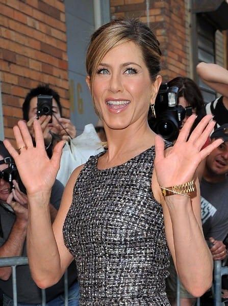 Jennifer Aniston visits the