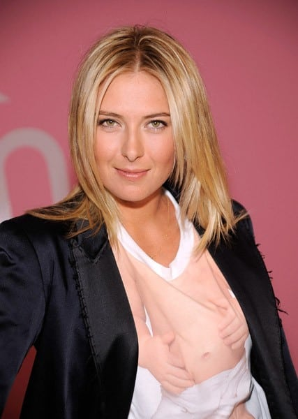 Tennis superstar Maria Sharapova attends Evian's Baby On The Inside advertisement promotion at the Openhouse Gallery on August 24, 2010 in New York City.