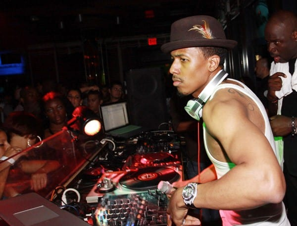 Nick Cannon spins at Webster Hall on August 14, 2010 in New York City.