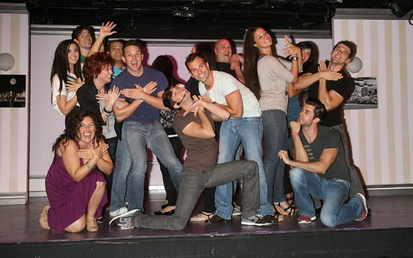 The cast of 'My Big Gay Italian Wedding' attend rehersals for 'My Big Gay Italian Wedding' at St. Luke's Theater on August 26, 2010 in New York City.