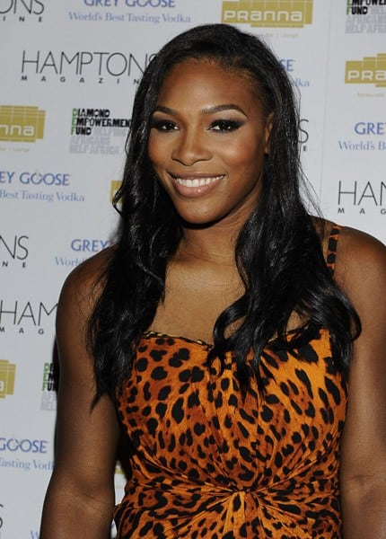 Serena Williams attends Hamptons Magazine Cover Party with GREY GOOSE at Pranna Restaurant on August 25, 2010 in New York, New York.