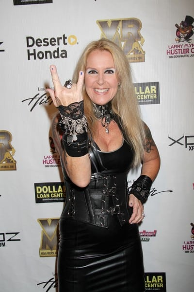 Lita Ford Attends the Vegas Rocks! Magazine Awards at the Las Vegas Hilton in Las Vegas, Nevada on August 22, 2010.