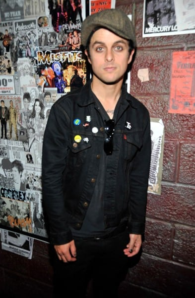 Billie Joe Armstrong backstage at the St. James Theater on September 28, 2010 in New York City.