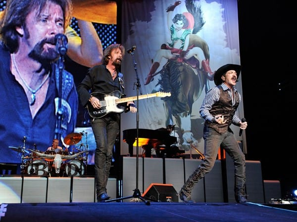 Ronnie Dunn and Kix Brooks perform their last concert at Bridgestone Arena on September 2, 2010 in Nashville, Tennessee.