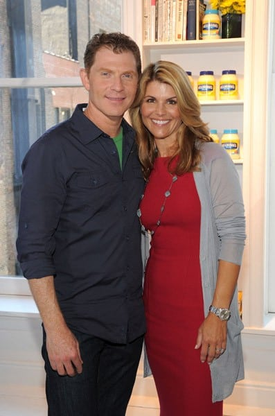 Chef Bobby Flay and actress/mom Lori Loughlin team up with Hellmann's this back-to-school season to help Americans feed their families food with real, simple, quality ingredients at Gary's Loft on September 14, 2010 in New York City.