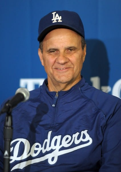 Joe Torre as Don Mattingly is Announced as 2011 Dodgers Manager at a Press Conference Held in Dodgers Stadium in Los Angeles, California on September 17, 2010.