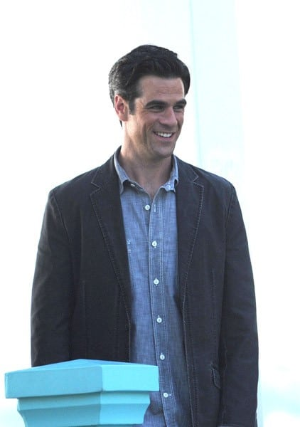 Eddie Cahill filming on location for 'CSI: NY' on the streets of Manhattan on September 22, 2010 in New York City.
