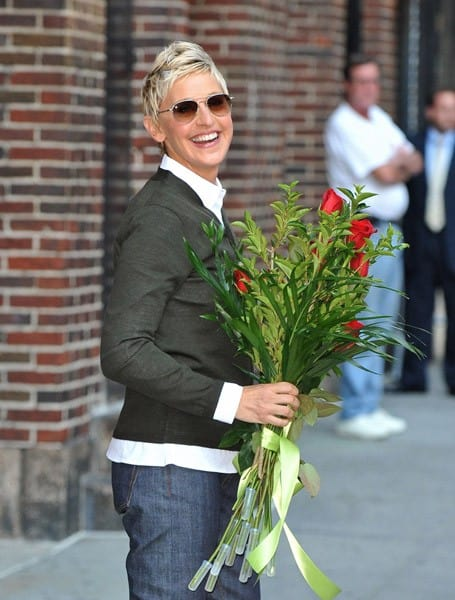 Ellen Degeneres visits 'Late Show with David Letterman' at the Ed Sullivan Theater on September 7, 2010 in New York City.