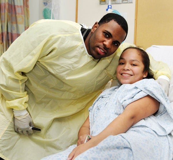 Jason Derulo Visits patients at Children's Hospital Boston September 28, 2010 in Boston, Massachusetts.