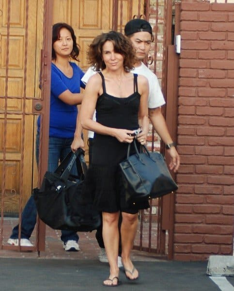 Jennifer Grey Spotted Outside of the 'Dancing With The Stars' Rehearsal Studios in Hollywood, California on September 5,2010.