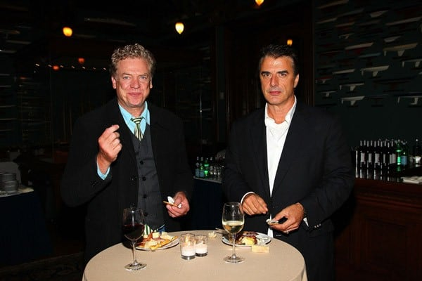 Christopher McDonald and Chris Noth attend the premiere of 'Jack Goes Boating' at the NY Yacht Club on September 16, 2010 in New York City.