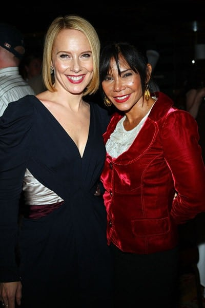 Amy Ryan and Daphne Rubin-Vega attend the premiere of 'Jack Goes Boating' at the NY Yacht Club on September 16, 2010 in New York City.