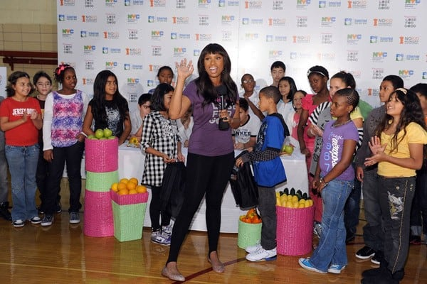 Academy Award-winning actress and Grammy Award-winning recording artist, Jennifer Hudson teams up with Weight Watchers for its third annual Lose For Good campaign to help fight two interrelated epidemics, hunger and obesity, at PS 111 Adolph S. Ochs School on September 15, 2010 in New York City.