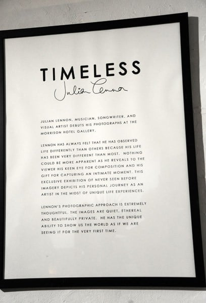 Atmosphere at the 'Timeless' photography exhibition opening party at the Morrison Hotel Gallery on September 16, 2010 in New York City.
