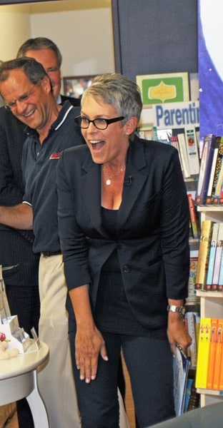Jamie Lee Curtis promotes 'My Mommy Hung The Moon' at Bookends on September 7, 2010 in Ridgewood, New Jersey.