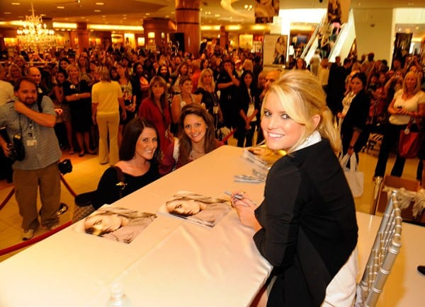 Jessica Simpson celebrates the Jessica Simpson Collection In-Store Appearance event at Belk Southpark Mall on September 18, 2010 in Charlotte, North Carolina.