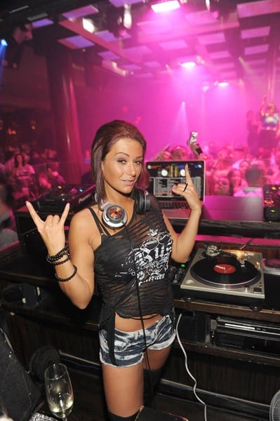 Jenni 'JWoww' Farley of 'Jersey Shore' attends Jet Nightclub at The Mirage Hotel and Casino on September 24, 2010 in Las Vegas, Nevada.