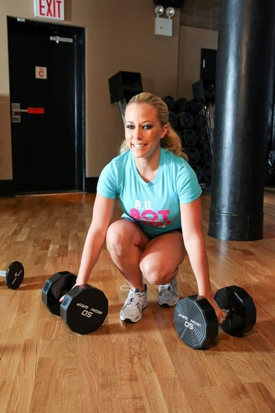 Kendra Wilkinson Takes SVEDKA Vodka's BartonBotCamp Class with David Barton In NYC at David Barton Gym on August 28,2010 in New York City.