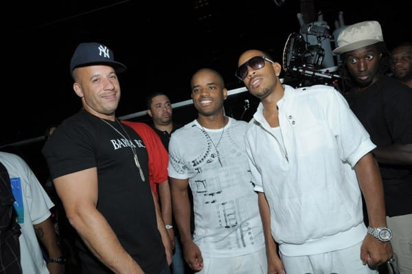 Actor Vin Diesel, actor Larenz Tate and recording artist/actor Ludacris attend the 5th Annual LudaDay Weekend on September 4, 2010 in Atlanta, Georgia.
