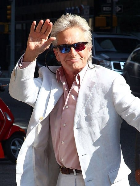 Actor Michael Douglas visits 'Late Show With David Letterman' at the Ed Sullivan Theater on August 31, 2010 in New York City.