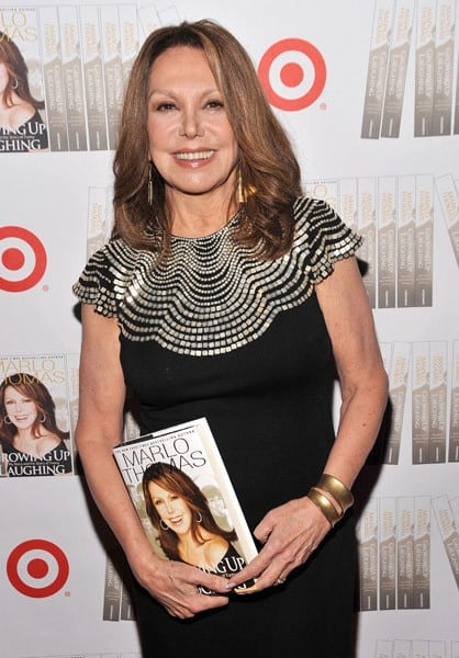 Actress and author Marlo Thomas attends the 'Growing Up Laughing' book launch at Caroline's On Broadway on September 27, 2010 in New York City.