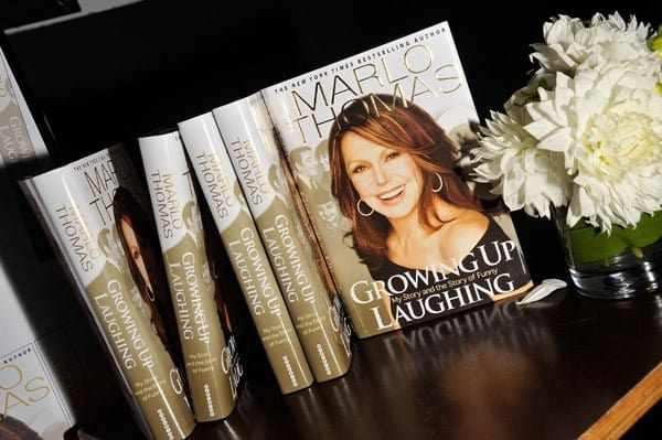 A display at Marlo Thomas' 'Growing Up Laughing' book launch at Caroline's On Broadway on September 27, 2010 in New York City.