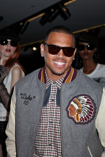 Chris Brown at the Dolce & Gabbana Celebration of the 25th Anniversary of Naomi Campbell's Career