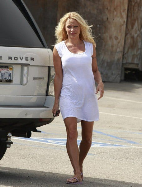 Pamela Anderson is seen shopping in Malibu on September 1, 2010 in Los Angeles, California.