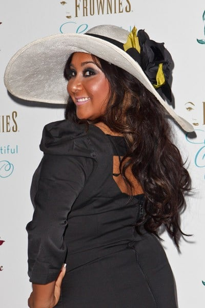 Television personality Nicole 'Snooki' Polizzi arrives at the 'Beautiful Eyes' launch party at FantaSea Yacht Club on September 27, 2010 in Marina del Rey, California.
