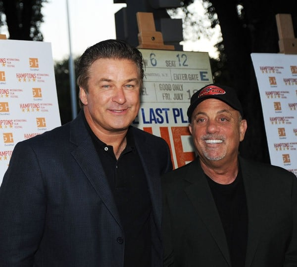 Alec Baldwin and and Billy Joel attend the 'Last Play At Shea' Screening for the Hamptons International Film Festival at Guild Hall on September 4, 2010 in East Hampton, New York.