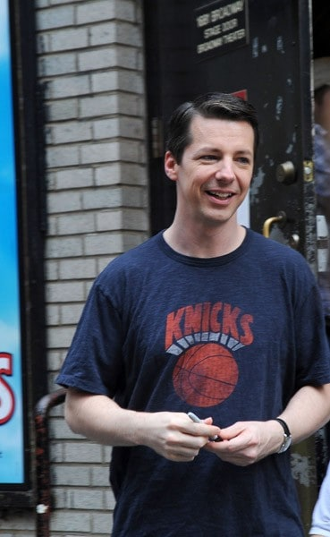 Sean Hayes seen outside of 'Promises, Promises' on Broadway on September 29, 2010 in New York City.