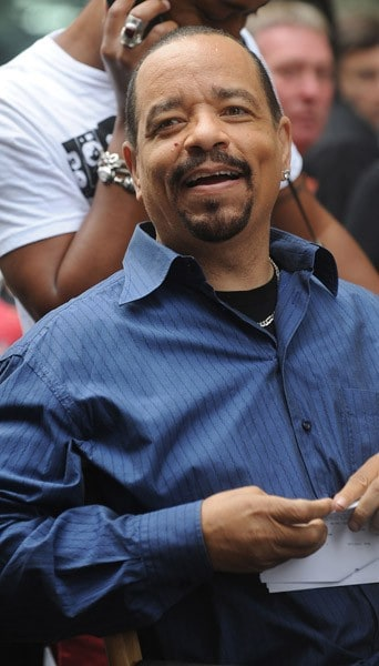 Ice-T filming on location for 'Law & Order: SVU' on the streets of Manhattan on September 10, 2010 in New York City.