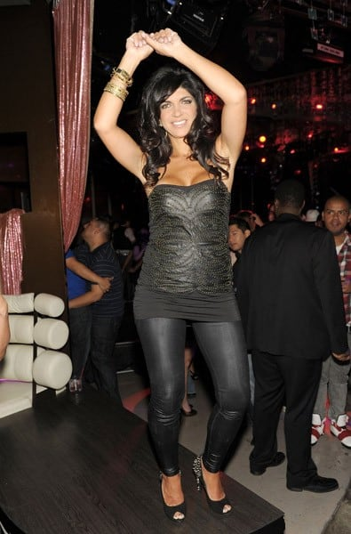 Teresa Giudice attends Beatles Revolution Lounge at The Mirage Hotel and Casino on September 5, 2010 in Las Vegas, Nevada.